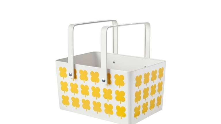 This galvanized steel powder-coated SOMMAR 2019 picnic basket