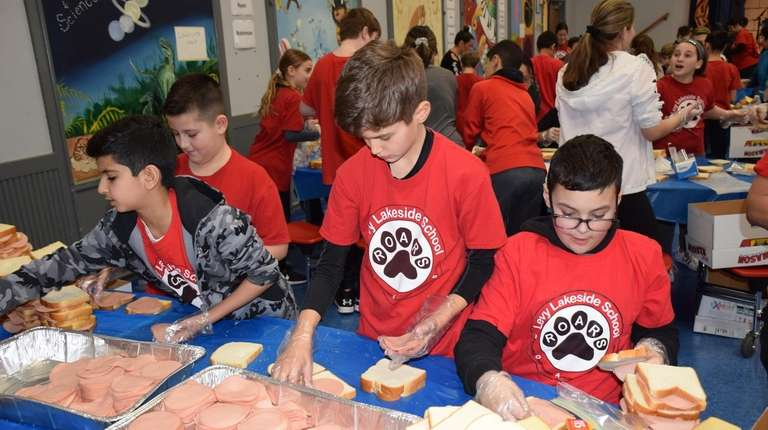 About 75 sixth-graders at Norman J. Levy Lakeside
