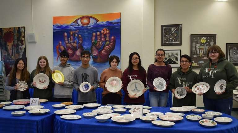 Students in the National Art Honor Society at
