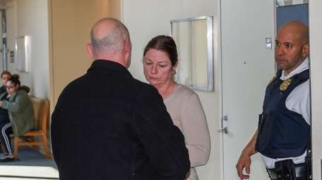AnnMarie Drago at court in Central Islip Monday,
