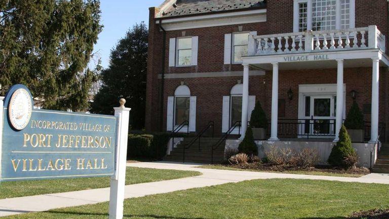 Port Jefferson Village Hall houses the village mayor's