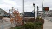 A sign welcomes people to the Village of