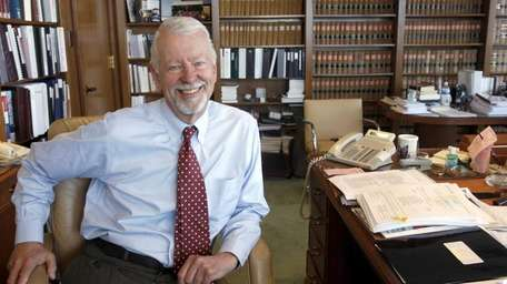 Judge Vaughn Walker in his chambers at the