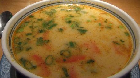 Tom kha gai (chicken coconut milk soup) at