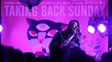 Taking Back Sunday's Adam Lazzara performs during a
