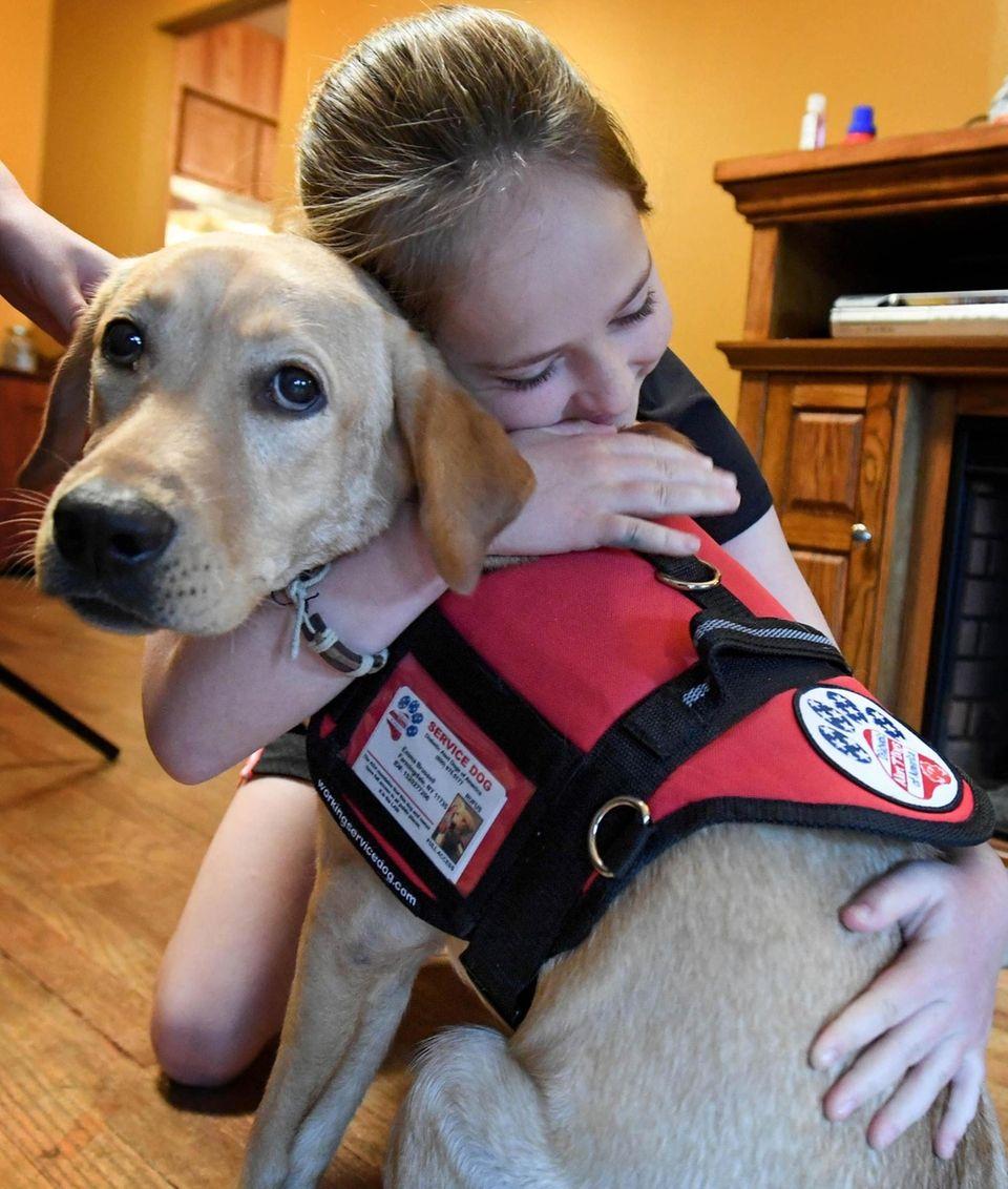 Emma Brussell embraces her long awaited Diabetic Alert