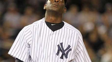 Rafael Soriano of the New York Yankees walks