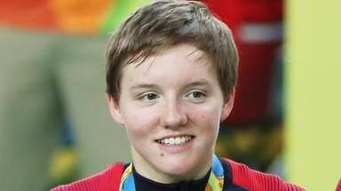 Olympic track cyclist Kelly Catlin, who helped the