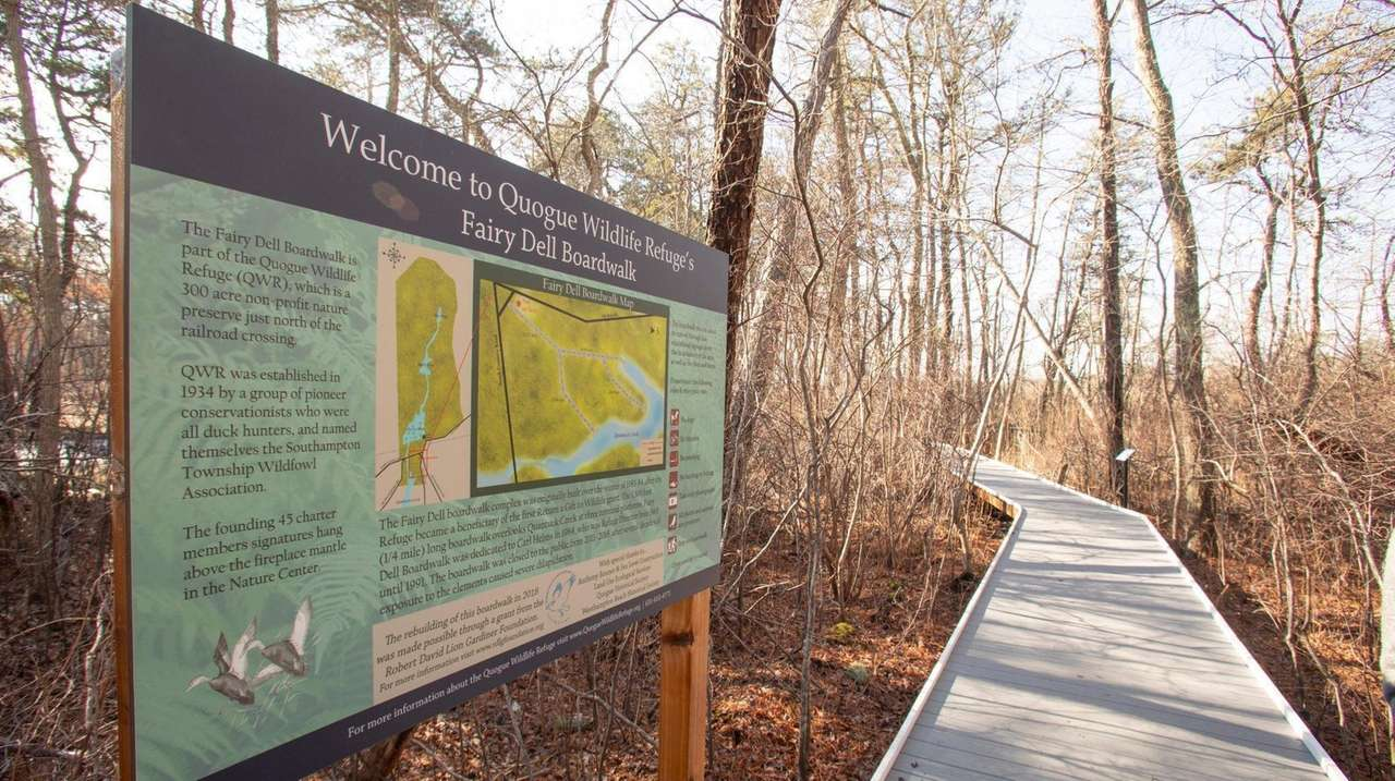 Michael Nelson, director of the Quogue Wildlife Refuge,