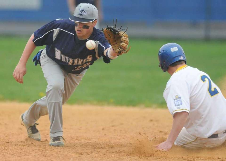St. Dominic High School second baseman #20 Vinny