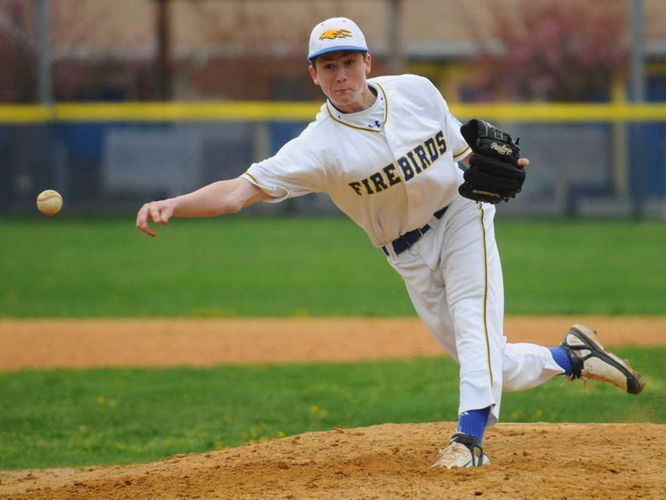 Kellenberg High School sidearm pitcher #1 Thomas Bishop