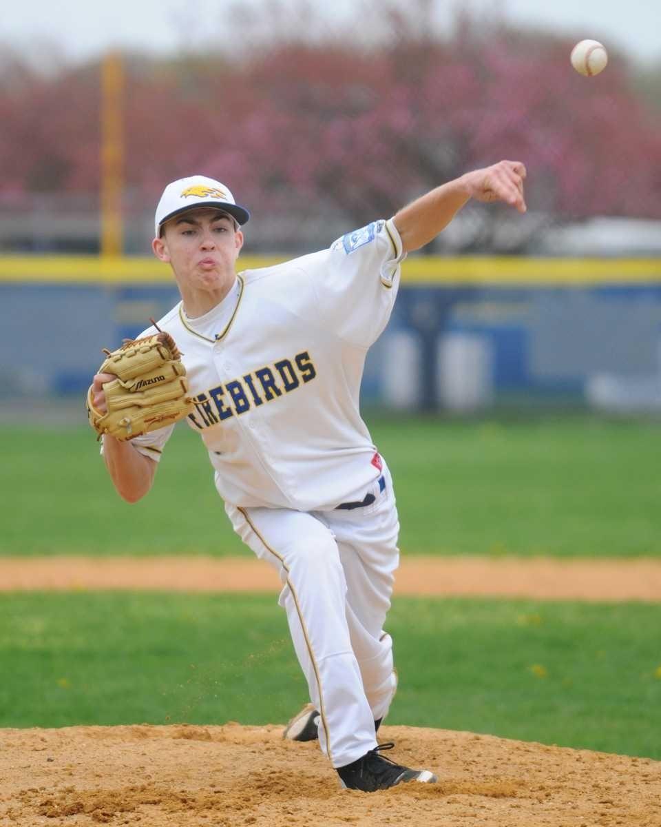 Kellenberg High School southpaw #46 Robert Kelly delivers