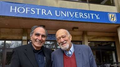 Martin Melkonian, left, and Michael D'Innocenzo, both longtime