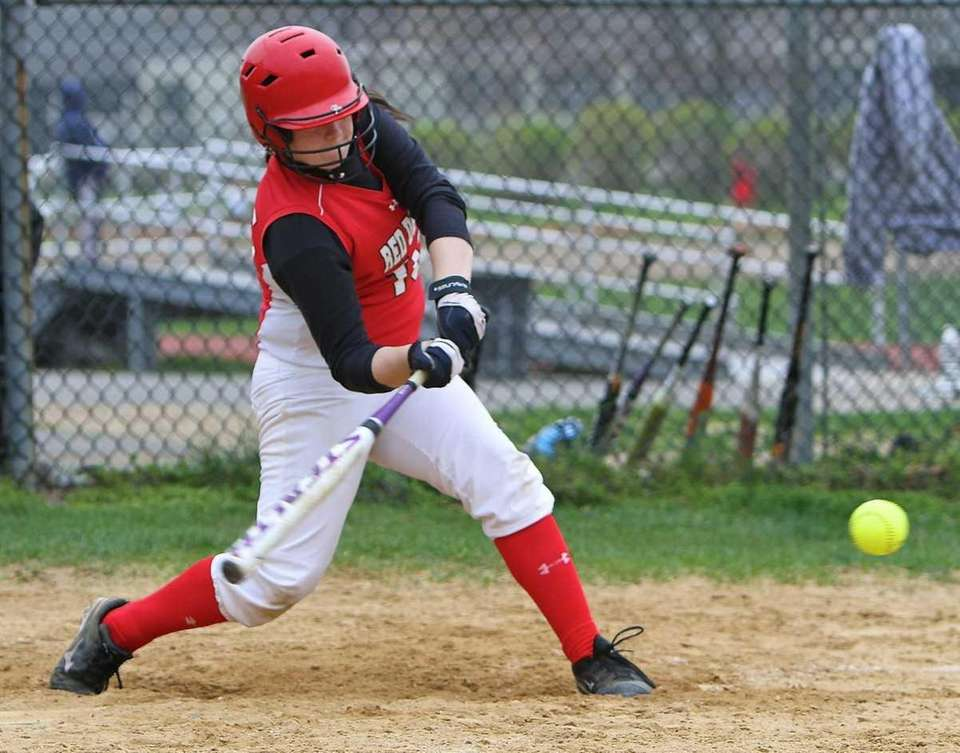 Plainedge's Taylor Curran #16 connects for a hit