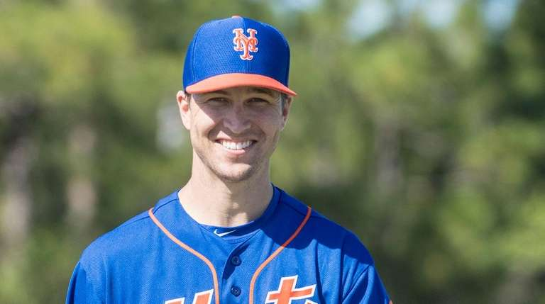 Jacob deGrom during a spring training workout on