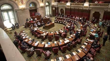 The New York State Senate meets in session