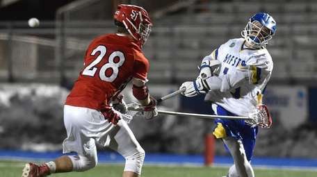 Ryan Tierney of Hofstra scores on a shot