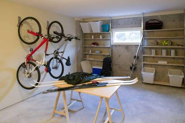 The garage of a home.