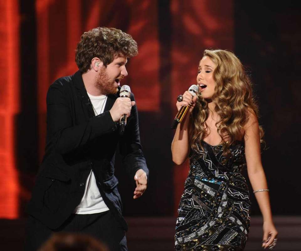 Casey Abrams and Haley Reinhart perform