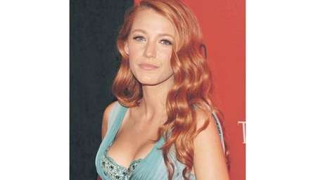 Blake Lively as a redhead