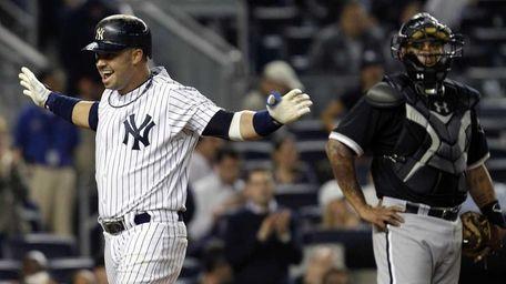 Chicago White Sox catcher Ramon Castro watches as