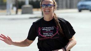 Alicja Barahona, 55, runs from Montauk to North