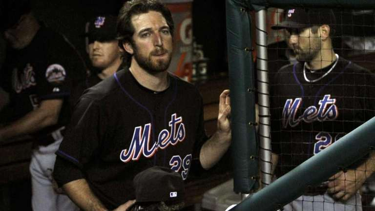 New York Mets' Ike Davis (29) reacts as