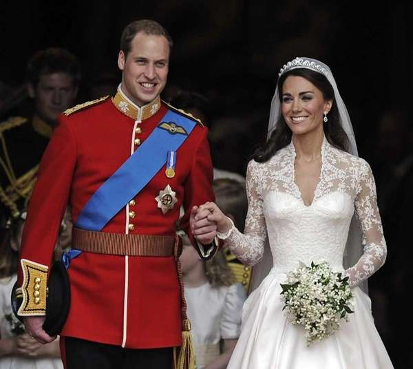Britain's Prince William and his wife Kate, Duchess