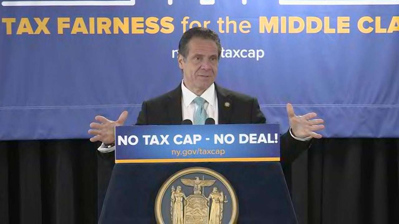 Gov. Andrew M. Cuomo, at the Hicksville Community Center on