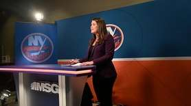 Shannon Hogan, MSG Networks' Islanders host and reporter,