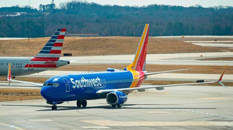 A Boeing 737 Max 8 flown by Southwest
