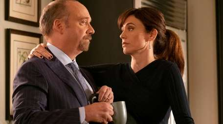 Paul Giamatti as Chuck Rhoades and Maggie Siff