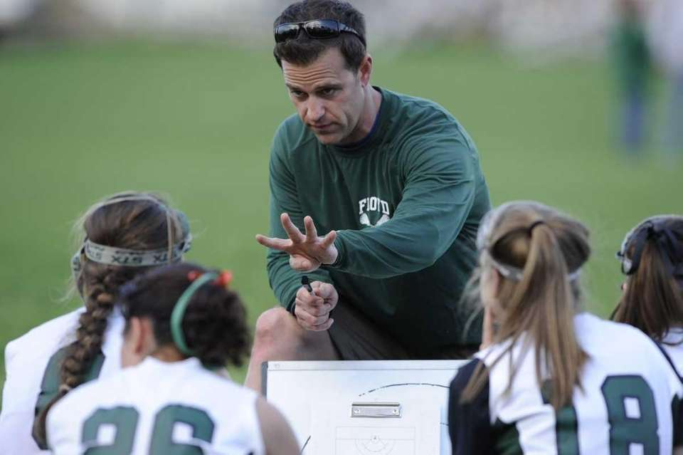William Floyd head coach Pete Friedman talks to