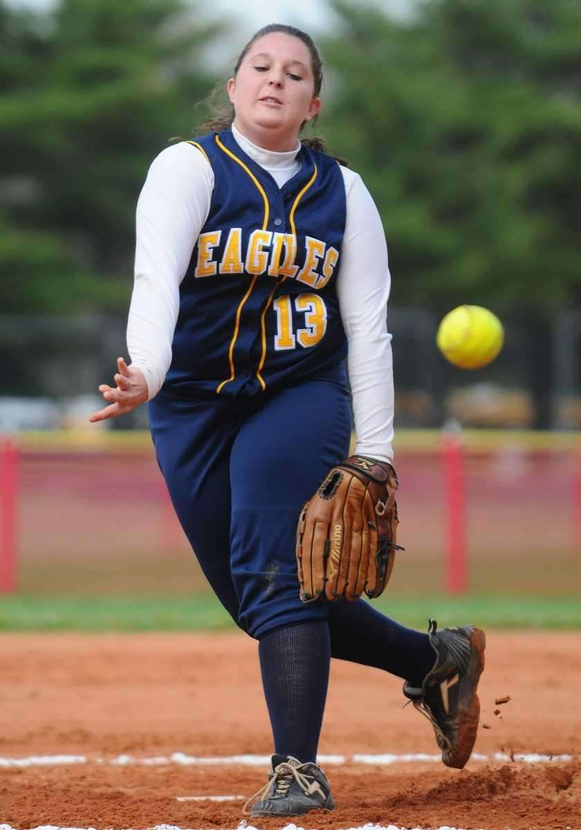 West Babylon High School pitcher #13 Taylor Webb