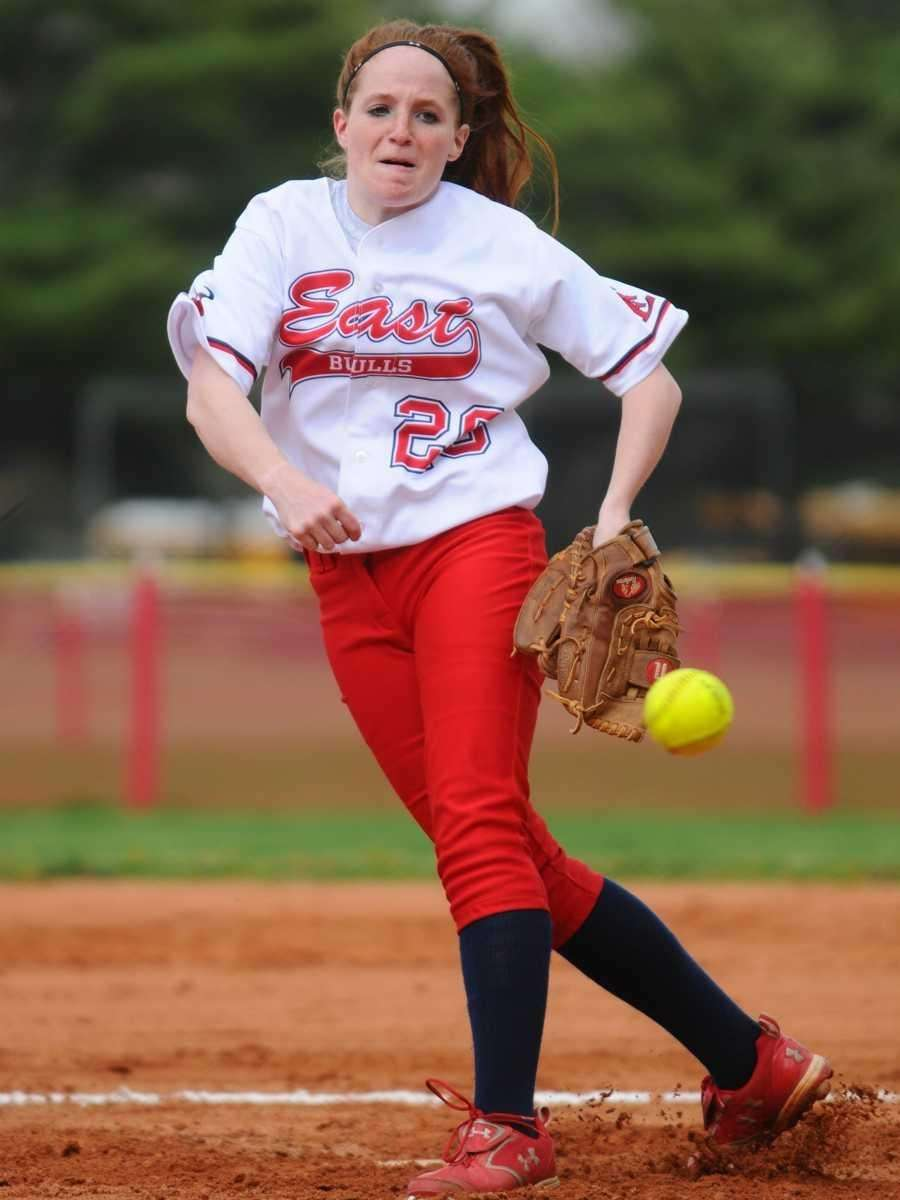 Smithtown East High School pitcher #20 Corinne Vazac