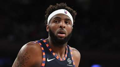 Mitchell Robinson against the Orlando Magic during the