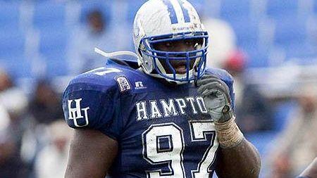 Hampton's Kenrick Ellis during the regular season.