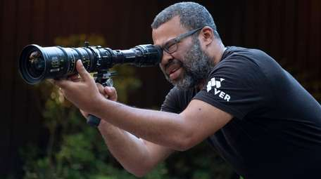 "Director Jordan Peele on the set of """