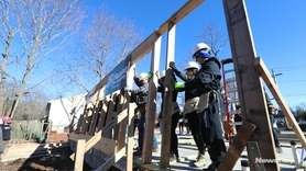 Habitat for Humanity of Suffolk hosted a wall raise