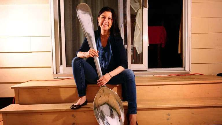 Christine Miserandino with one of her spoons from
