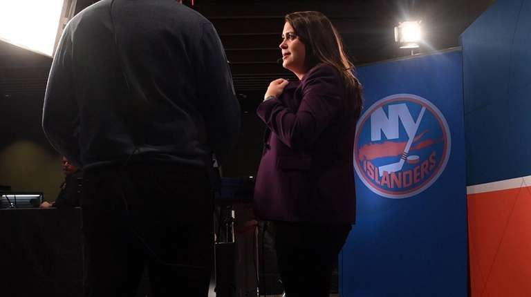 Shannon Hogan, Islanders pre- and post-game television host,