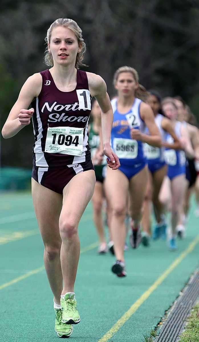 North Shore's Samantha Nadel at the head of