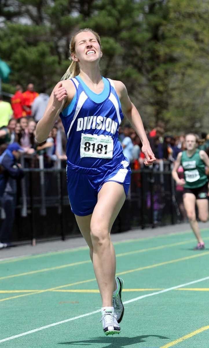 Division's Kristen Stuart wins the Girl's 400 Meter