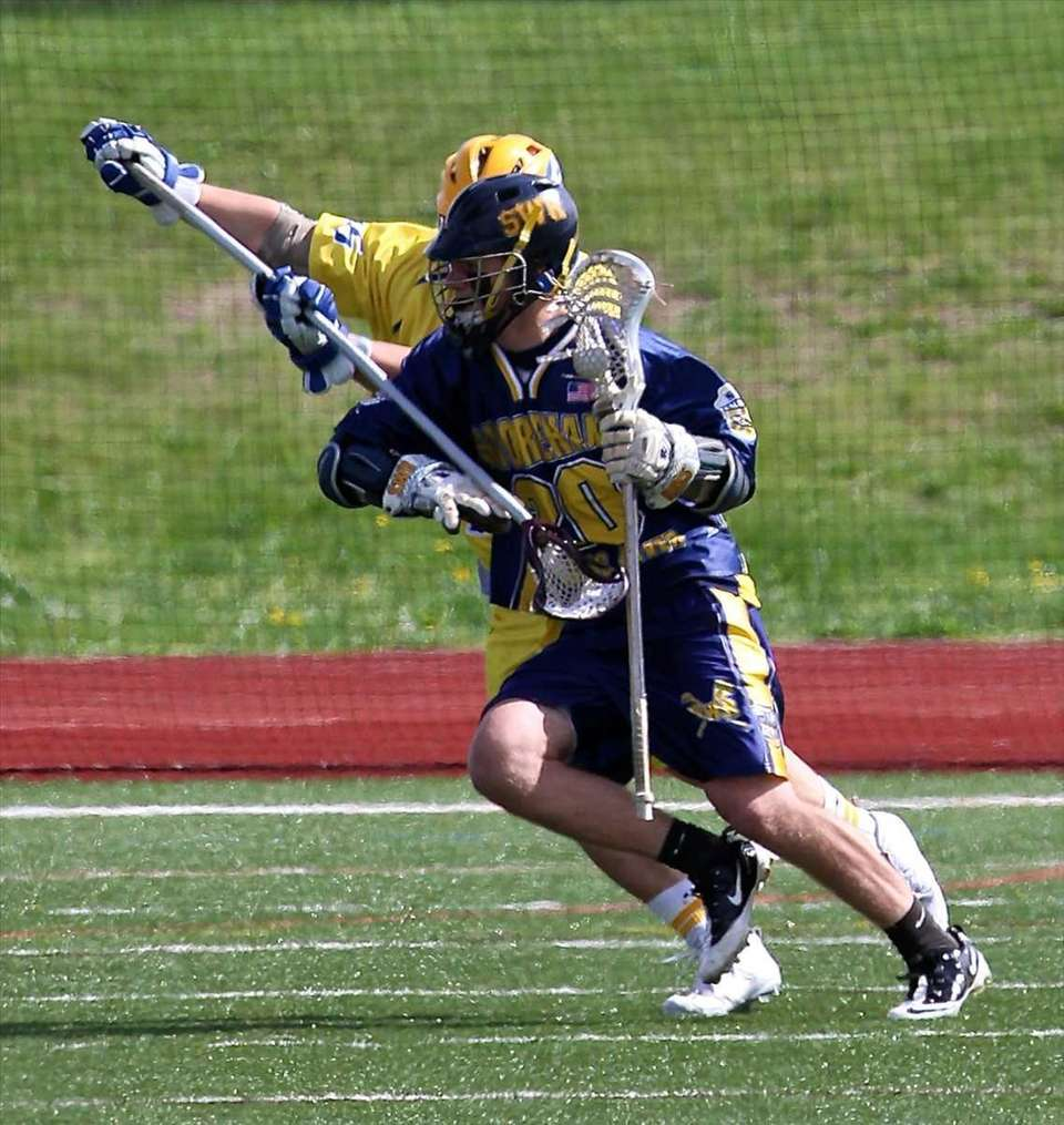 Shoreham/Wading River attack Tim Rotanz #20 moves the