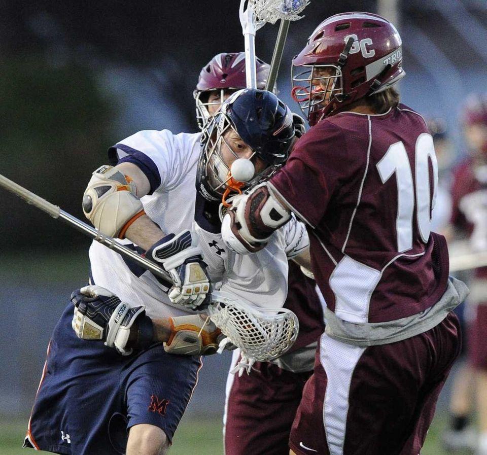 Garden City's Ryan Norton checks the ball from