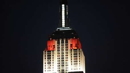 The Empire State Building is shown in this