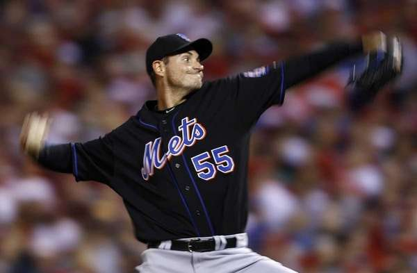 Mets starter Chris Young pitches in the second