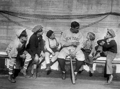 Youngsters lend an ear to Babe Ruth as