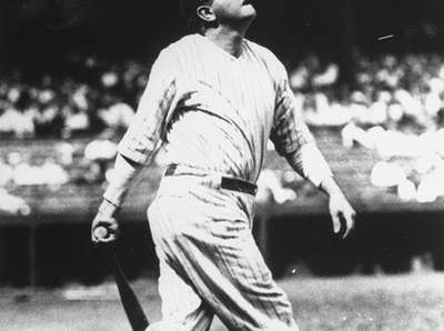 The Yankees' Babe Ruth hits another home run