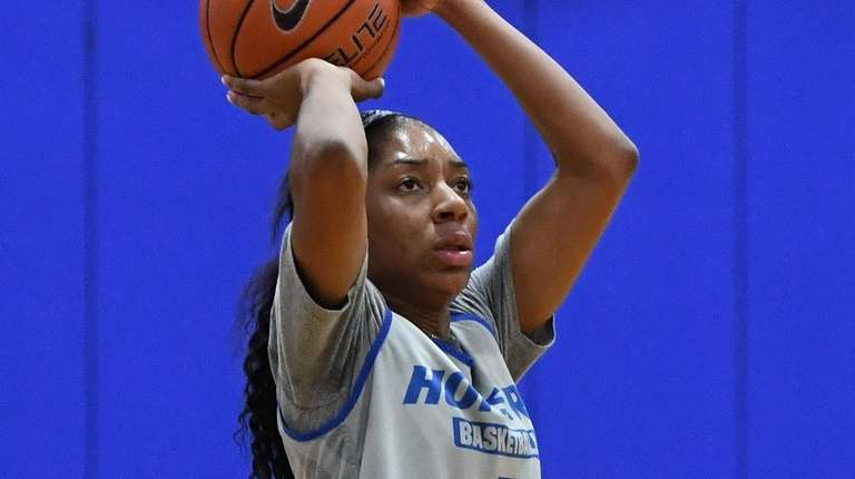 Hofstra guard JaKayla Brown shoots the ball during